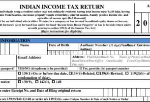 New Income Tax Return Forms (ITR) – AY 2020-21 – Changes