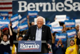 Bernie Sanders Takes Strong Lead in Iowa Caucus