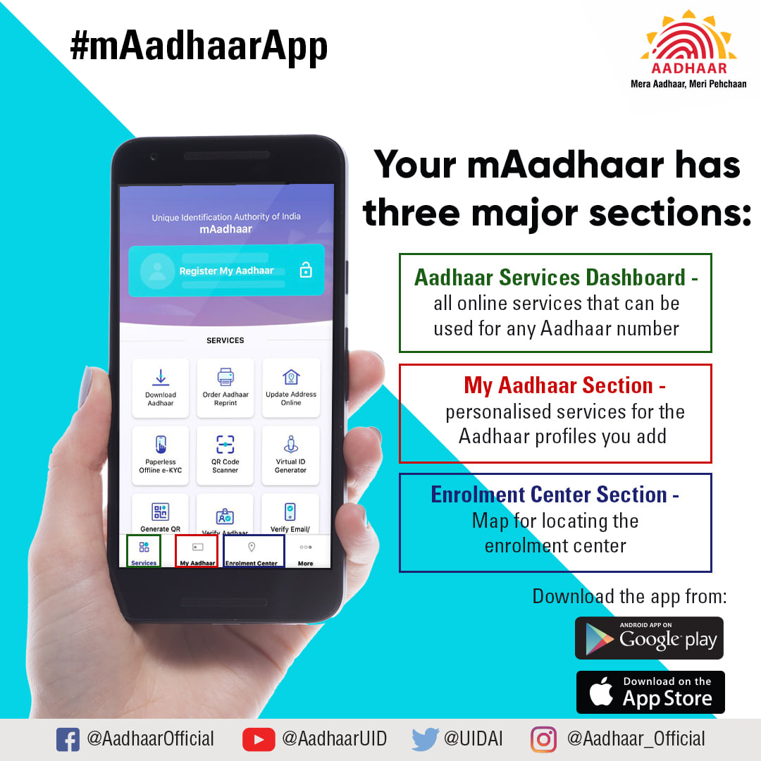 New mAadhaar App – Key Features Benefits