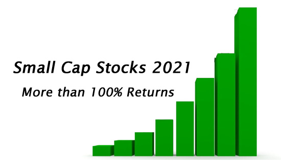 Small cap stocks of 2021 – More than 100% returns